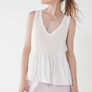 Urban Outfitters White Peplum Top